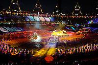 LONDRES, INGLATERRA, 29 AGOSTO 2012 - ABERTURA PARAOLIMPIADAS - Cerimonia dos jogos Paraolimpicos no Estadio Olimpico de Londres, nesta quarta-feira, 29. (FOTO: PIXATHLON / BRAZIL PHOTO PRESS).
