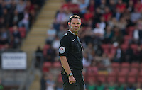 Referee James Linington during the Sky Bet League 2 match between Leyton Orient and Wycombe Wanderers at the Matchroom Stadium, London, England on 19 September 2015. Photo by Andy Rowland.