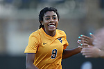 09 September 2016: West Virginia's Ashley Lawrence (CAN). The Duke University Blue Devils hosted the West Virginia University Mountaineers at Koskinen Stadium in Durham, North Carolina in a 2016 NCAA Division I Women's Soccer match. West Virginia won the match 3-1.