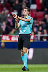 Referee Ricardo de Burgos Bengoechea blows the whistle during the La Liga 2017-18 match between Atletico de Madrid and Girona FC at Wanda Metropolitano on 20 January 2018 in Madrid, Spain. Photo by Diego Gonzalez / Power Sport Images