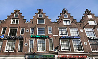 Nederland - Amsterdam - 2018.   Horeca aan het Leidseplein. Sommige panden zijn ernstig verzakt.  Foto Berlinda van Dam / Hollandse Hoogte.