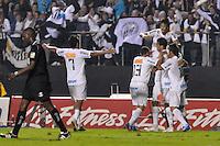 SÃO PAULO, SP, 13 DE MAIO DE 2012 - FINAL DO CAMPEONATO PAULISTA - SANTOS x GUARANI:  Neymar comemora gol durante Santos x Guarani, segunda partida da final do Campeonato Paulista no Estádio do Morumbi. FOTO: LEVI BIANCO - BRAZIL PHOTO PRESS