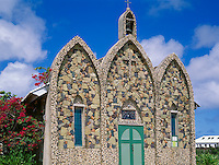 Anguilla, BWI<br /> Stone composite arches from the facade of St Gerard's church in Anguilla's village of the Valley