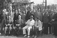 Franklin D. Roosevelt, Chiang,Kai Shek, and Churchill in Cairo, Egyp NOV 22 to 26, 1943<br /> <br /> <br /> <br /> Cairo Conference (Nov. 22-26, 1943)This photo by Jim Hudson was taken during the Cairo Conference (Nov. 22-26, 1943) - US Photographer