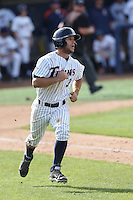Tyler Stieb #3 of the Cal State Fullerton Titans runs the bases during a game against the Washington State Cougars at Goodwin Field on  February 15, 2014 in Fullerton, California. Washington State defeated Fullerton, 9-7. (Larry Goren/Four Seam Images)