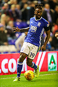 1st November 2017, St. Andrews Stadium, Birmingham, England; EFL Championship football, Birmingham City versus Brentford; Jacques Maghoma of Birmingham City steadies himself on the wing and looks up for the best pass