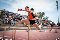 Naomi Miyamoto '21<br /> The Occidental College men's and women's track and field teams compete in the 2019 Southern California Intercollegiate Athletic Conference (SCIAC) Track and Field Championships at the Claremont-Mudd-Scripps Burns Track Complex in Claremont, Calif. on Saturday, April 27, 2019.<br /> After the two-day SCIAC Championships CMS scored 211.50 points, followed by Pomona-Pitzer (171.50), Redlands (114), Occidental (92.50), Whittier (57.50), La Verne (54), Cal Lutheran (48), Chapman (23) and Caltech (4). <br /> <br /> (Photo by Eddie Ruvalcaba, Image of Sport)