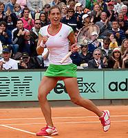 Andrea PETKOVIC (GER) (15) against Lucie HRADECKA (CZE)  in the 2nd round of the women's singles. Andrea Petkovic  beat Lucie Hradecka 7-6 6-2 ..Tennis - Grand Slam - French Open - Roland Garros - Paris - Day 5 -  Thur May 26th 2011..© AMN Images, Barry House, 20-22 Worple Road, London, SW19 4DH, UK..+44 208 947 0100.www.amnimages.photoshelter.com.www.advantagemedianetwork.com.