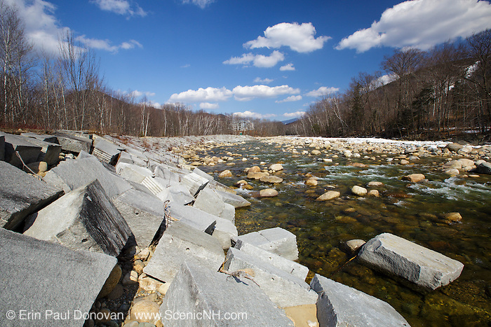 East Branch of the Pemigewasset River during the spring months in Lincoln, New Hampshire USA