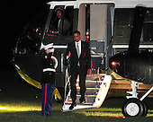United States President Barack Obama arrives from a campaign trip on Tuesday, June 12, 2012.  The President traveled to Baltimore, Maryland and Philadelphia, Pennsylvania before returning to the White House this evening..Credit: Ron Sachs / CNP