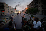 Remi OCHLIK/IP3 PRESS - On august, 25, 2011 In Tripoli - Rebels fighters in Abu Slim neighborhood against the last resistance of the Gadaffi loyalist forces, in Tripoli on August 25, 2011..