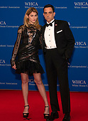 Fox News Foreign Correspondent Trey Yingst and his girlfriend, fashion model Adi Spiegelman, arrive for the 2019 White House Correspondents Association Annual Dinner at the Washington Hilton Hotel on Saturday, April 27, 2019.<br /> Credit: Ron Sachs / CNP<br /> <br /> (RESTRICTION: NO New York or New Jersey Newspapers or newspapers within a 75 mile radius of New York City)