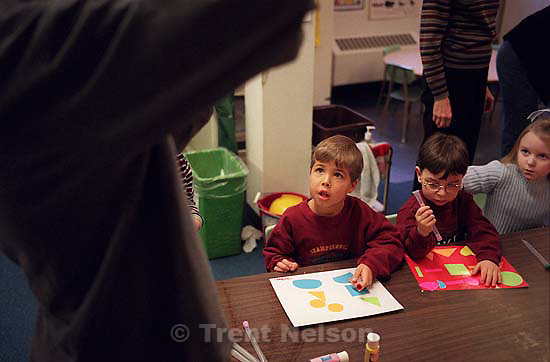 Noah Nelson and other kids at Wasatch Presbyterian Pre-School.<br />