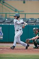 Dartmouth Big Green right fielder Matt Feinstein (23) follows through on a swing during a game against the USF Bulls on March 17, 2019 at USF Baseball Stadium in Tampa, Florida.  USF defeated Dartmouth 4-1.  (Mike Janes/Four Seam Images)