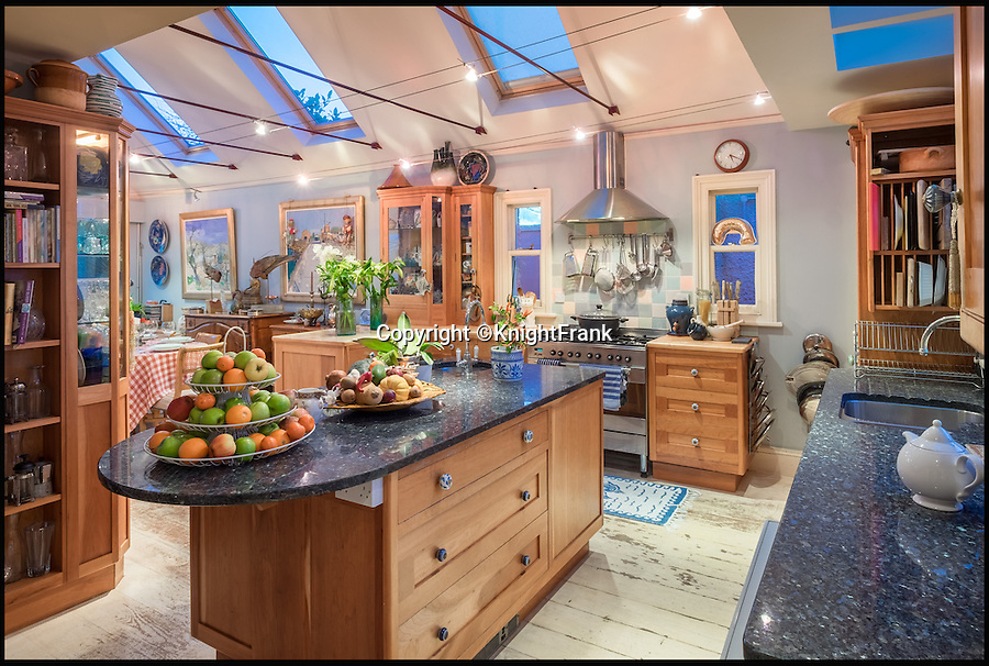 "BNPS.co.uk (01202 558833)<br /> Pic: KnightFrank/BNPS<br /> <br /> The kitchen of the house.<br /> <br /> This quaint beach hut is the perfect spot for those dreaming of living by the sea - and you also get a seven-bedroom house for the £2.24million price tag.<br /> <br /> Ledge House on the Isle of Wight is one of very few properties on the island that has direct access to the beach and the house and gardens take full advantage of the breathtaking views.<br /> <br /> While the house itself is impressive, with more than 4,000 sq ft of living space and beautiful gardens, the Boat House and Beach Hut set down by the beach are the real selling point. <br /> <br /> Owner Georgie Donnelly described them as being like ""another world"", completely secluded from the main house and above prying eyes from the beach."