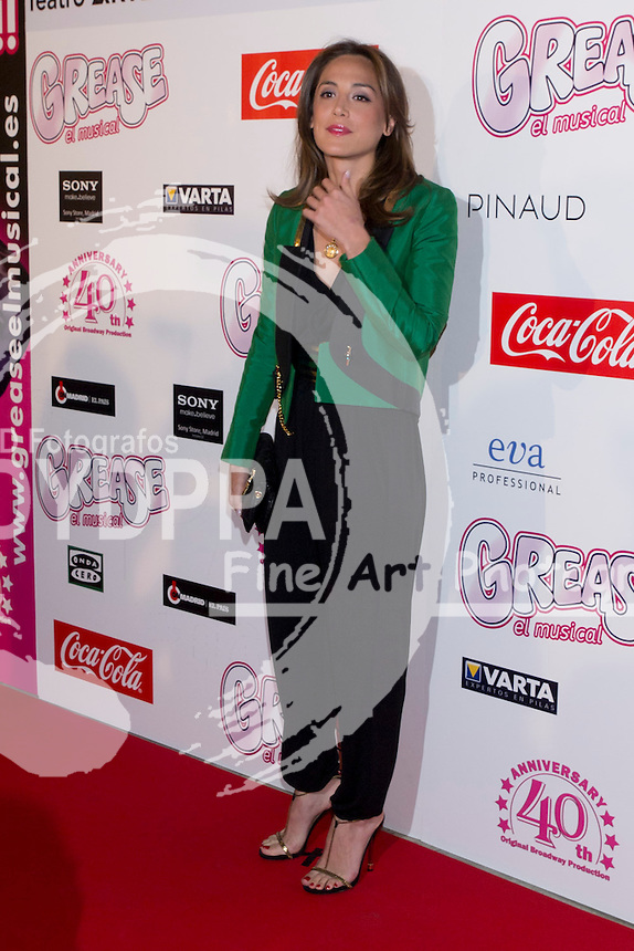 """27.03.2012. Teathre Coliseum. Madrid. Spain. Re-inauguration of """"Grease, the musical"""" in connection with the incorporation of Julio Iglesias Junior to the function. In the picture Tamara Falco"""
