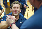 May 20, 2011 Colorado Springs, CO.   Navy/Coast Guard wheelchair basketball coach, Joseph Frank, is congratulated on a Bronze Medal during the 2011 Warrior Games  at the U.S. U.S. Olympic Training Center, Colorado Springs, CO...