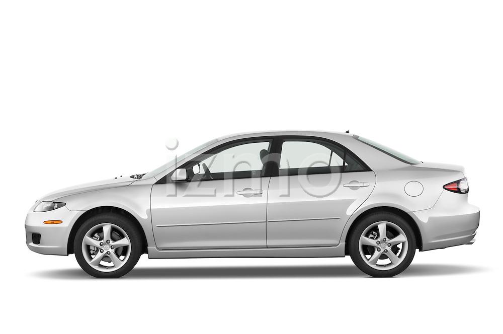 Driver side profile view of a 2008 Mazda 6 Sport Sedan