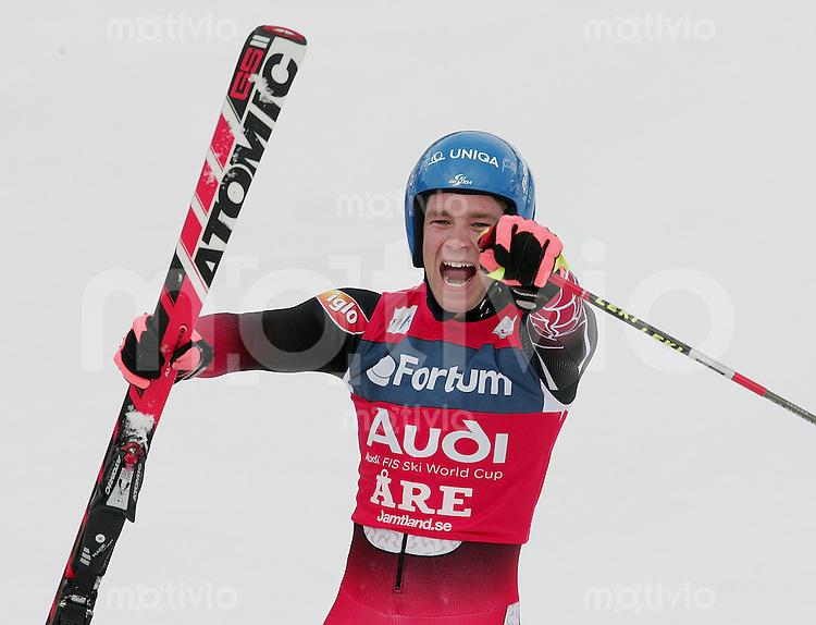 Ski Alpin Saison 2005/2006 Riesenslalom Herren JUBEL, Benjamin Raich (AUT) gewinnt den Riesenlalom Weltcup