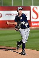 Andrew Heaney (35) of the New Orleans Zephyrs before the game against the Salt Lake Bees in Pacific Coast League action at Smith's Ballpark on August 27, 2014 in Salt Lake City, Utah.  (Stephen Smith/Four Seam Images)