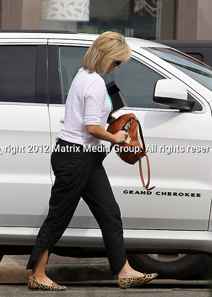 26 MARCH 2013 SYDNEY AUSTRALIA ..EXCLUSIVE ..Samantha Armytage pictured after leaving her hairdresser in Darlinghurst visits a Bunnings store and later trying on a red evening gown at a bridal store in Stanmore....*No internet without clearance*.MUST CALL PRIOR TO USE ..+61 2 9211-1088.Matrix Media Group.Note: All editorial images subject to the following: For editorial use only. Additional clearance required for commercial, wireless, internet or promotional use.Images may not be altered or modified. Matrix Media Group makes no representations or warranties regarding names, trademarks or logos appearing in the images.