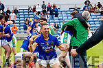 John Griffin Lixnaw players celebrate after winning the Kerry County Senior Hurling championship Final at Austin Stack Park on Sunday.