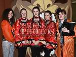 Eve Callan, Orla Woods, Laura Healy, Naoise McGrath and Deirdre McKenna who took part in the Togher Theatre Group's Panto Aladdin in St Mary's Hall Drumcar. Photo:Colin Bell/pressphotos.ie