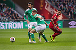 01.12.2018, Weser Stadion, Bremen, GER, 1.FBL, Werder Bremen vs FC Bayern Muenchen, <br /> <br /> DFL REGULATIONS PROHIBIT ANY USE OF PHOTOGRAPHS AS IMAGE SEQUENCES AND/OR QUASI-VIDEO.<br /> <br />  im Bild<br /> Nuri Sahin (Werder Bremen #17)<br /> Niklas Moisander (Werder Bremen #18)<br /> Serge Gnabry (FC Bayern Muenchen #22)<br /> <br /> <br /> Foto &copy; nordphoto / Kokenge