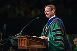 Interim President David Descutner speaks at undergraduate commencement. Photo by Ben Siegel