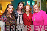Kate O'Flaherty (Castlegregory) Stephanie O'Flaherty (Castlegregory) Gail McConkey (Tralee) and Eileen O'Flaherty (Castlegregory) enjoying the Clarins evening at Ch Chemist, Tralee on Thursday evening last.