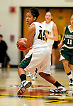 5 December 2009: University of Vermont Catamount guard/forward Sofia Iwobi, a Senior from Fairfield, IA, in action against the Manhattan College Jaspers at Patrick Gymnasium in Burlington, Vermont. The Catamounts defeated the visiting Jaspers 78-59 to mark the Lady Cats' second home win of the season. Mandatory Credit: Ed Wolfstein Photo