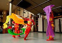 Young dancers perform on stage during the Wells Fargo Community Celebration, held October 29, 2011 in downtown Charlotte NC. The daylong festival took place in the streets, in public atriums and in downtown museums, which offered free admission all day long. Wells Fargo, which this month completed its conversion from Wachovia, picked up the bill.