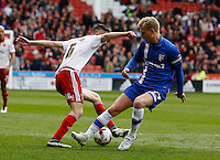 Sheffield United v Gillingham .Sky Bet League 1 ....... gillinghams Brennan Dickenson loses out to uniteds chris basham