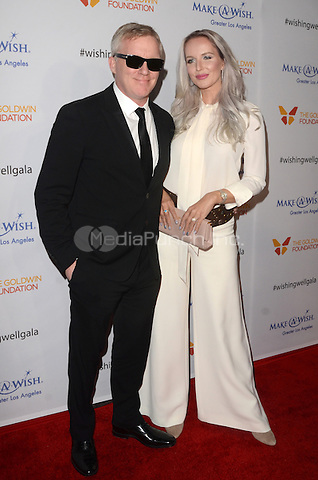 LOS ANGELES, CA - DECEMBER 07: Anthony Michael Hall and Lucia Oskerova at the 4th Annual Wishing Well Winter Gala on December 07, 2016 in Los Angeles, California. Credit: David Edwards/MediaPunch