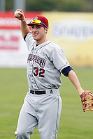 Mahoning Valley Scrappers Evan Frazar #32 during a game against the Batavia Muckdogs at Dwyer Stadium on August 20, 2011 in Batavia, New York.  Batavia defeated Mahoning Valley 5-4.  (Mike Janes/Four Seam Images)