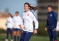 Lagos, Portugal - Februrary 24, 2015:  The USWNT practices during their preparation for the Algarve Cup in Lagos, Portugal.