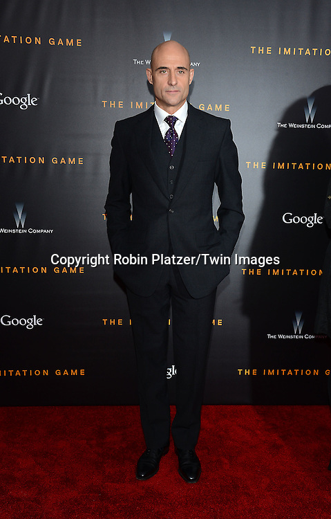 Mark Strong  attends The US Premiere of &quot;The Imitation Game&quot; at the Ziegfeld Theatar in New York City on November 17, 2014.<br /> <br /> photo by Robin Platzer/Twin Images<br />  <br /> phone number 212-935-0770