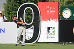 Robert Rock tees off on the 9th tee during Day 1 of the Dubai World Championship, Earth Course, Jumeirah Golf Estates, Dubai, 25th November 2010..(Picture Eoin Clarke/www.golffile.ie)