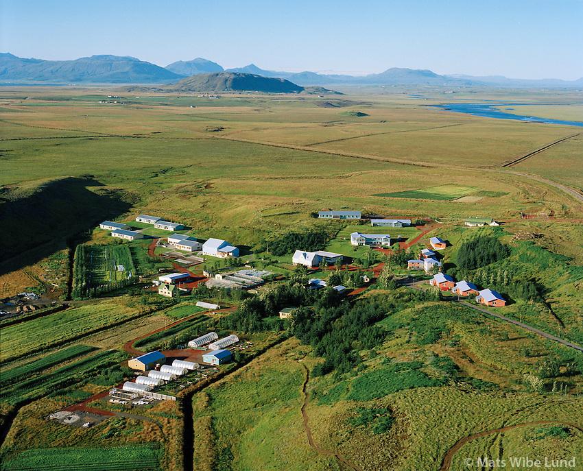 Sólheimar séð til norðausturs, Grímsnes- og Grafningshreppur / Solheimar viewing northeast, Grimsnes- og Grafningshreppur.