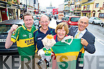 Paudie O'Callaghan, Sean Murphy, Han Linehan and Terence Mulcahy, pictured as they welcomed the boost the Kerry v Tyrone game with give to business in Killarney...................................................Christy O'Mahony, captain Beaufort Golf club and Irene McCarthy, Lady Captain Beaufort Golf Club pictured with James Lucey and Sheila McCarthy, who were the winners in their Captain Prize Competition at the course on Sunday. Also pictured are Frank Coffey, President, Sean Coffey, vice captain, Teresa Clifford, Margaret Guerin, Josephine O'Shea, Gretta Hurley, Renee Clifford, Peggy O'Riordan, Maureen Rooney, Mary Barrett, Robin Suter, Gearoid Keating, Jim Hurley, Gabhan O'Loughlin, Rory Browne, Mike Quirke, Matt Templeman and Simon Rainsford...Picture: Ger Cronin LMPA (087) 0522010....PR SHOT..NO REPRODUCTION FEE.............................................................................................................................................................................................................................................