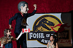 Canada wins Fossil of the Year Award at COP 15 in Copenhagen. They were awarded the award for being the most obstructive in the UN process to try and form a fair, ambitious and binding treaty to solve the climate crisis. (Images free for Editorial Web usage for Fresh Air Participants during COP 15. Credit: Robert vanWaarden)