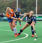 BLOEMENDAAL  - Sascha Olderaan (Bldaal)  tijdens de hoofdklasse competitiewedstrijd vrouwen , Bloemendaal-Pinoke (1-2) . COPYRIGHT KOEN SUYK