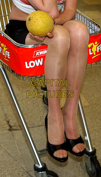 TRACY SHAW - TRACEY SHAW.Photocall at Kwik Save supermarket to launch Price Less campaign.www.capitalpictures.com.sales@capitalpictures.com.©Capital Pictures.bruised, bruises, look closer