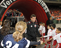 Stephen King#7 of D.C. United during the opening match of the 2011 season against the Columbus Crew at RFK Stadium, in Washington D.C. on March 19 2011.D.C. United won 3-1.