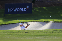 Haotong Li (CHN) on the 15th during the 1st round of the DP World Tour Championship, Jumeirah Golf Estates, Dubai, United Arab Emirates. 15/11/2018<br /> Picture: Golffile | Fran Caffrey<br /> <br /> <br /> All photo usage must carry mandatory copyright credit (© Golffile | Fran Caffrey)