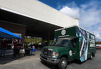 NWA Democrat-Gazette/CHARLIE KAIJO A mobile construction lab is parked outside, Thursday, September 13, 2018 at Lowe's in Bella Vista.<br /><br />The Arkansas Department of Higher Education gave NWACC $1 million workforce grant, which will allow the college to continue help training high school students in the construction trades.<br /><br />Last year the college was able to buy a mobile lab equipped with a bunch of construction tools. This year the lab will go to high schools throughout Benton and Washington counties so students can gain experience with tools their schools don&Otilde;t have.<br /><br />They hope to have a second truck operating in about six months.