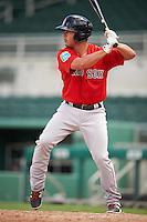 Boston Red Sox Chad De La Guerra (7) during an Instructional League game against the Minnesota Twins on September 23, 2016 at JetBlue Park at Fenway South in Fort Myers, Florida.  (Mike Janes/Four Seam Images)