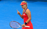 Angelique Kerber of Germany after defeating Madison Keys of U.S. during their semi-final match at the Sydney International tennis tournament, Jan. 9, 2014.  Daniel Munoz/Viewpress IMAGE RESTRICTED TO EDITORIAL USE ONLY