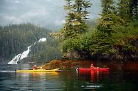 Kayaking in Cascade Bay, Prince William Sound, Chugach National Forest, Alaska.
