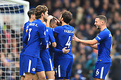 2nd December 2017, Stamford Bridge, London, England; EPL Premier League football, Chelsea versus Newcastle United; Eden Hazard of Chelsea celebrates with team mates after scoring making it 3-1